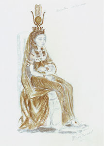 Designs For Cleopatra XXVI by Oliver Messel