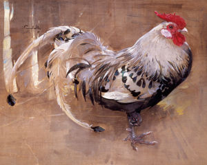 The Spangled Cock by Joseph Crawhall
