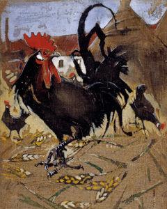 Black Spanish Cock by Joseph Crawhall