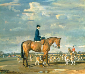 Sybil Harker on Saxa by Sir Alfred Munnings