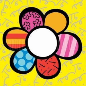 Flower Power I by Romero Britto