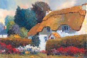 Thatched Roof Cottage by Scott Wallis