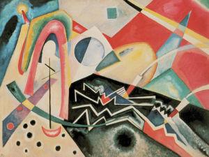 White Zigzag by Wassily Kandinsky