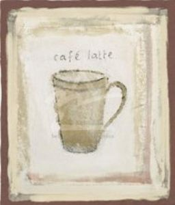 Cafe latte by Jane Claire