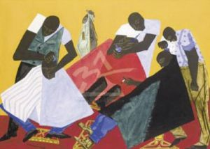 Barber Shop, 1946 by Jacob Lawrence