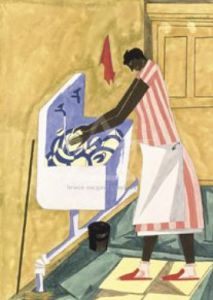 Home Chores, 1945 by Jacob Lawrence