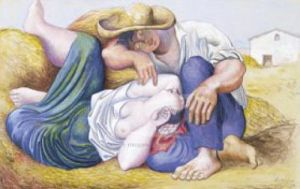 Sleeping Peasants, 1919 by Pablo Picasso