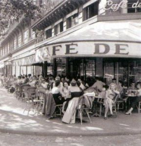 Outside the Cafe de Flore by Cornell Capa