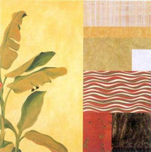 Collage with Banana Leaves II by Julieann Johnson