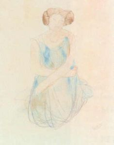 Seated Woman in a Dress by Auguste Rodin