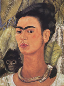 Self-Portrait with Monkey, 1938 by Frida Kahlo