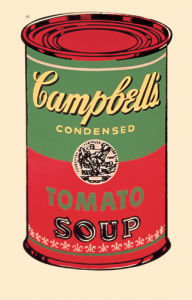 Campbell's Soup Can, 1965 (green & red) by Andy Warhol