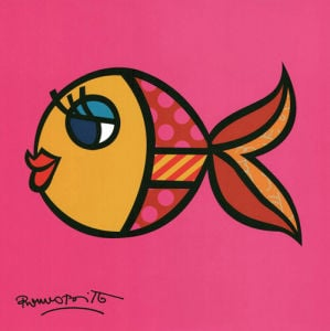 Swimmingly Pink by Romero Britto