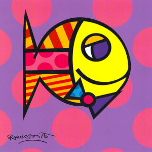 Striped Fish by Romero Britto