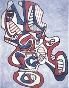 Scissor V (Silkscreen print) by Jean Dubuffet