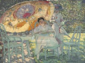 The Garden Parasol by Frederick Carl Frieseke