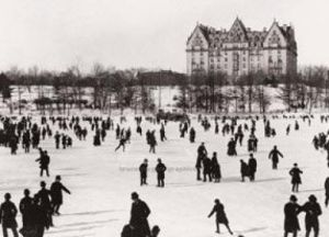 Skating in Central Park, 1890 by J.S. Johnston