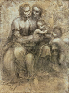 The Virgin and Child with Saint Anne and Saint John by Leonardo da Vinci