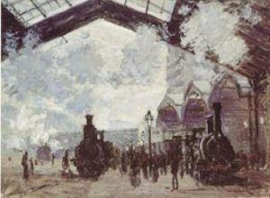 Le Gare St. Lazare, 1877 by Claude Monet
