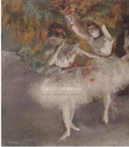 Two Dancers entering the Stage, 1877-1878 by Edgar Degas