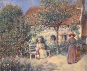 Garden Scene Brittany, 1886 by Pierre Auguste Renoir