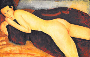 Reclining Nude from the Back, 1917 by Amedeo Modigliani