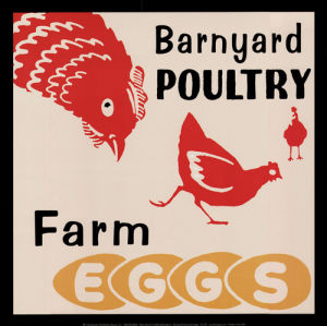 Barnyard Poultry - Farm Eggs by Retro Series