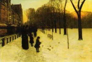 Boston Common at Twilight, 1885-86 by Frederick Childe Hassam