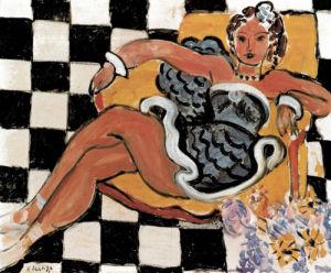 Danseuse dans la Fauteuil sol en Damier, 1942 by Henri Matisse