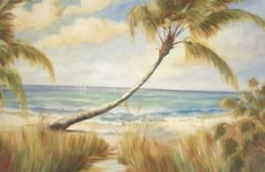 Shoreline Palms I by Marc Lucien