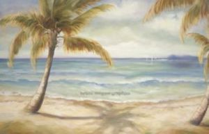 Shoreline Palms II by Marc Lucien