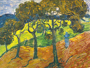 Landscape with Figures, 1889 by Vincent Van Gogh