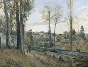 Louveciennes, 1871 by Camille Pissarro