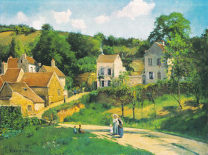 L'Hermitage at Pontoise, c. 1867 by Camille Pissarro