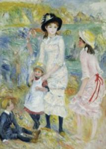 Children on the Seashore, Guernsey by Pierre Auguste Renoir