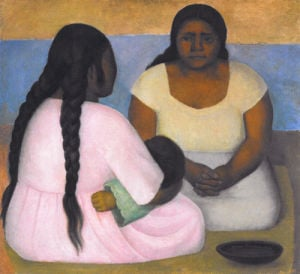 Two Women and a Child by Diego Rivera
