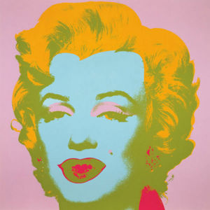 Marilyn Monroe (Marilyn), 1967 (pale pink) by Andy Warhol