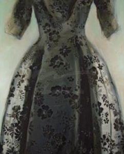 Black Balenciaga Dress Poster by Richard Nott