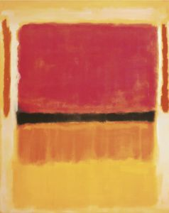 Untitled Violet, Black, Orange, Yellow on White and Red by Mark Rothko