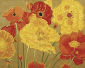 Poppy Garden II by Beverly Jean
