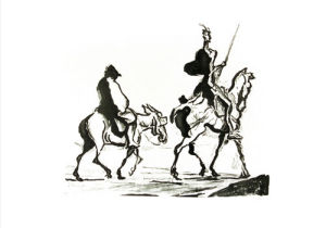 Don Quixote by Honoré-Victorin Daumier