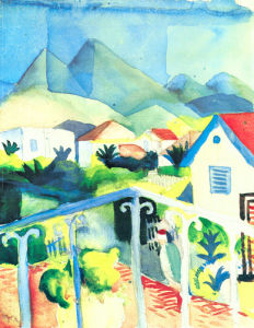 St Germain Near Tunis by August Macke