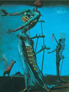 Giraffe on fire by Salvador Dali