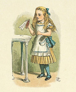 How Alice grow tall by Sir John Tenniel