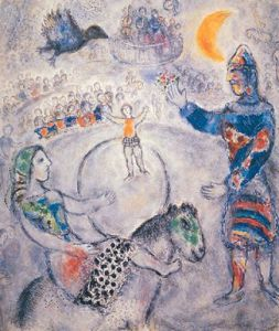 The Great Grey Circus by Marc Chagall