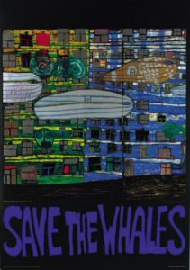 Save the Whales by Friedensreich Hundertwasser