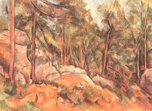 Rocks in the Park of Chateau Noir by Paul Cezanne
