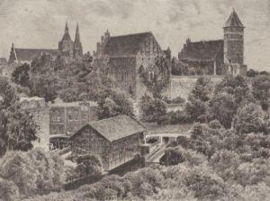 Allenstein, Schloss by Bruck