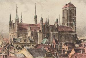 Danzig, St. Marienturm, rechts by Bruck