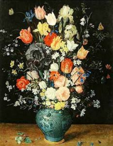 Flowers in a Blue Vase by Jan Bruegel The Younger
